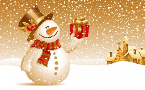 Tanta neve, addobbi, pupazzi da neve, alberi di natale e decorazioni