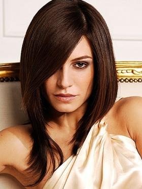 Tagli capelli lunghi con frangia ciuffo