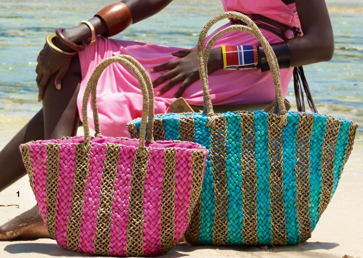 Borse in paglia da spiaggia Carpisa estate 2011