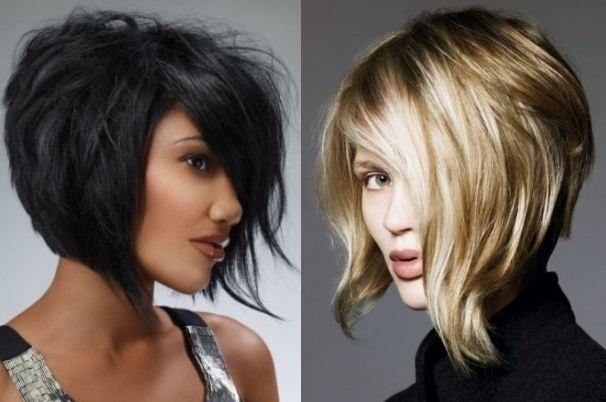 Taglio capelli asimmetrico medio