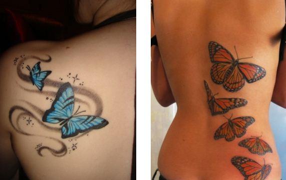 Tatuaggi farfalle su spalla e schiena the house of blog for Immagini tatuaggi spalla