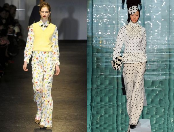 Tendenza moda abbigliamento inverno 2011 2012 a pois