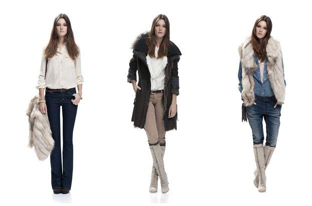 Jeans pantaloni camicia cappotto e gilet Pinko collezione inverno 2012