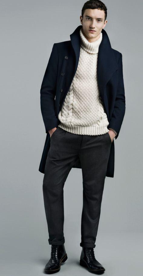 cappotto maglione e pantaloni zara uomo inverno 2011 2012 the house of blog. Black Bedroom Furniture Sets. Home Design Ideas