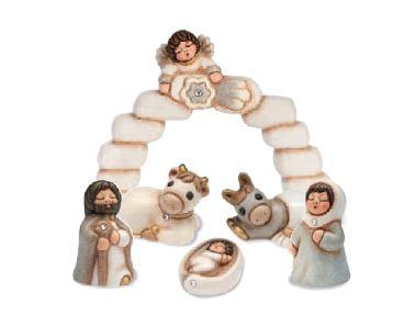 Mini Presepio Thun Natale 2011 arco e Sacra Famiglia Euro 79