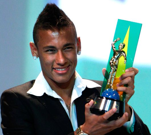 hairstyles of Neymar with his hair cut for men with crest Mohawk