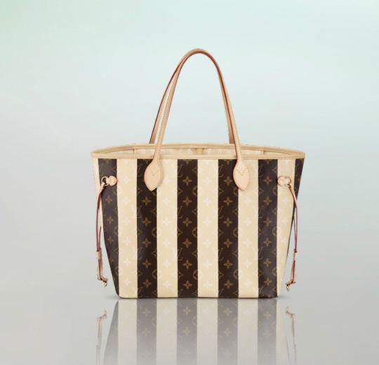 Borsa Neverfull MM Louis Vuitton in Monogram Rayures 2012