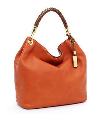 Borsa a sacca in pelle color tangerine tango Michael Kors estate 2012 circa euro 850
