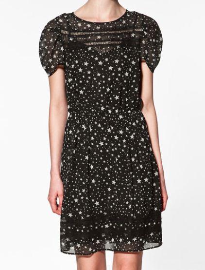 Vestito Zara con stelline primavera estate 2012 Euro 69 95