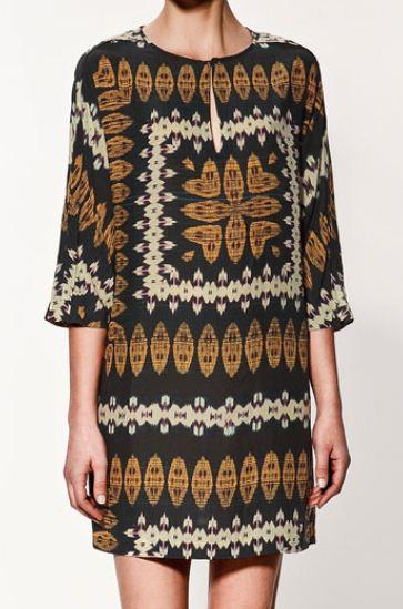 Vestito Zara stampa etnica Euro 39 95