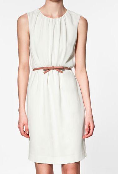 Vestito con cinturina Zara estate 2012 Euro 49 95