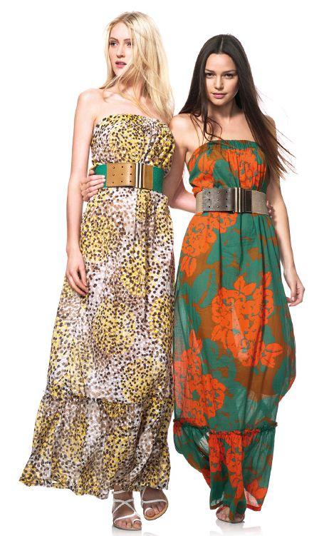 Abiti lunghi collezione estate 2012 Benetton