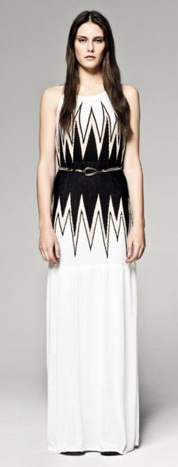 Vestito bianco e nero sisley