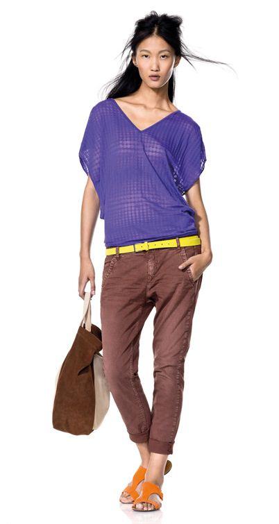 Blusa e pantaloni Benetton collezione primavera estate 2012