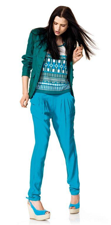 Pantaloni e giacchino Benetton collezione primavera estate 2012