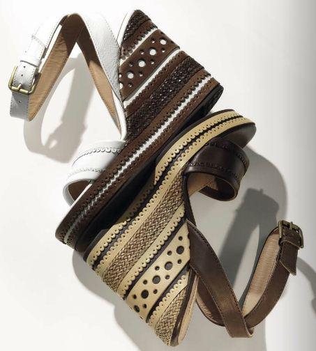 Sandali con zeppa e cinturino alla caviglia Geox estate 2012 - Catalogo scarpe e sandali Geox collezione primavera estate 2012
