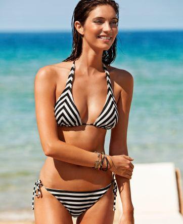 Bikini a righe con reggiseno halter HM estate 2012