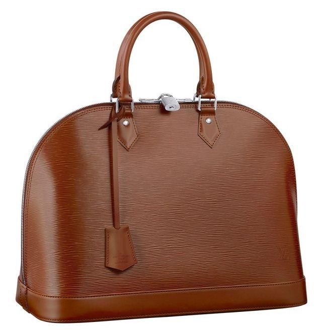 Borsa Alma in pelle Epi Louis Vuitton primavera estate 2012 color Cacao