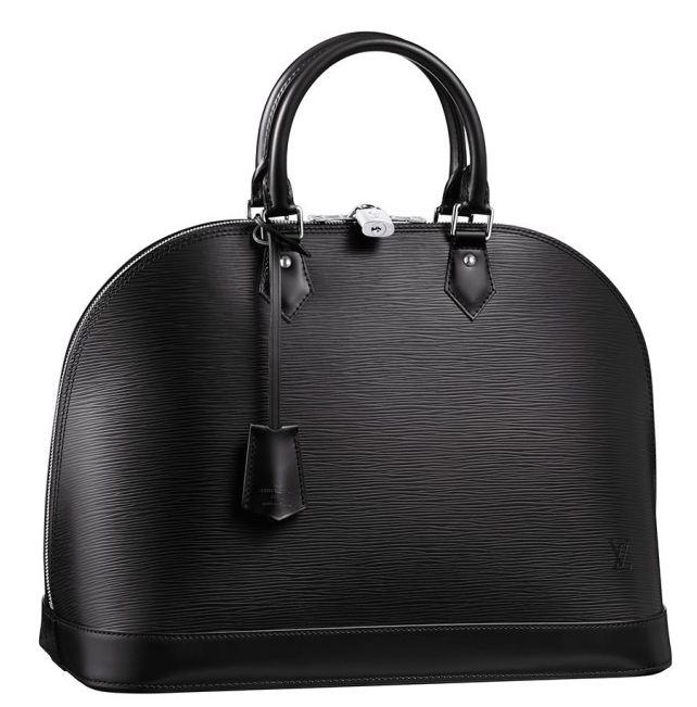 Borsa Alma in pelle Epi Louis Vuitton primavera estate 2012 color Nero