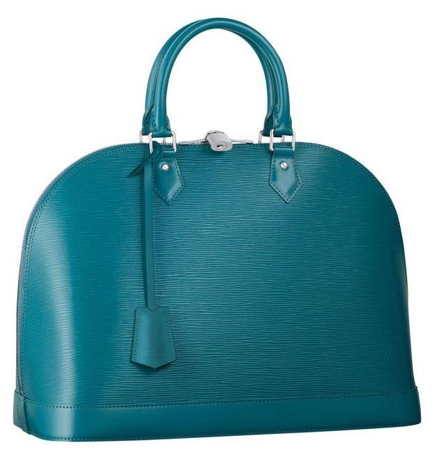 Nuova borsa a mano Louis Vuitton primavera estate 2012 color Blu Cyan
