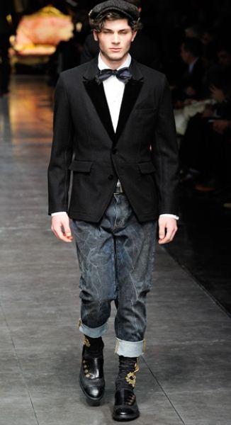 Matrimonio In Jeans : Giacca elegante con jeans dolce gabbana inverno the