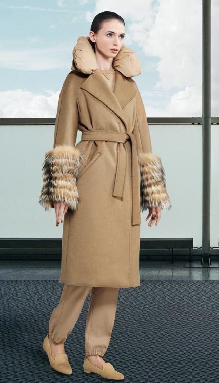 Cappotto Max Mara inverno 2013 mod Caro con bordi di pelliccia