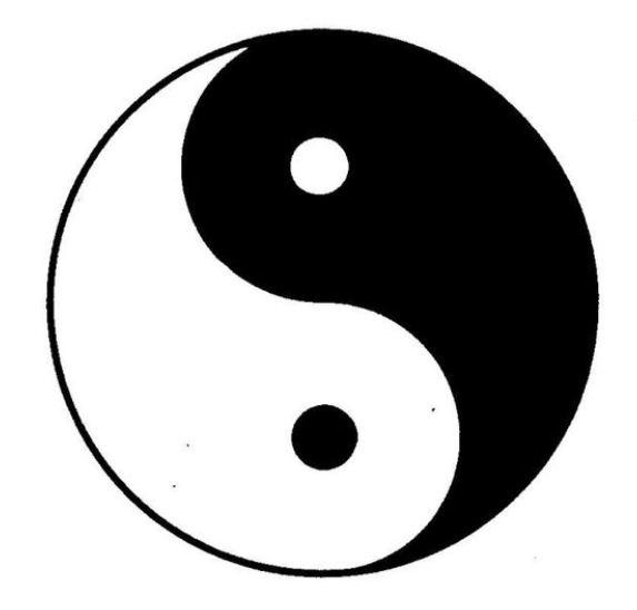 Disegno per tatuaggio classico yin e yang