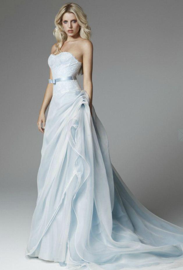 Matrimonio In Azzurro Polvere : Abiti da sposa blumarine the house of