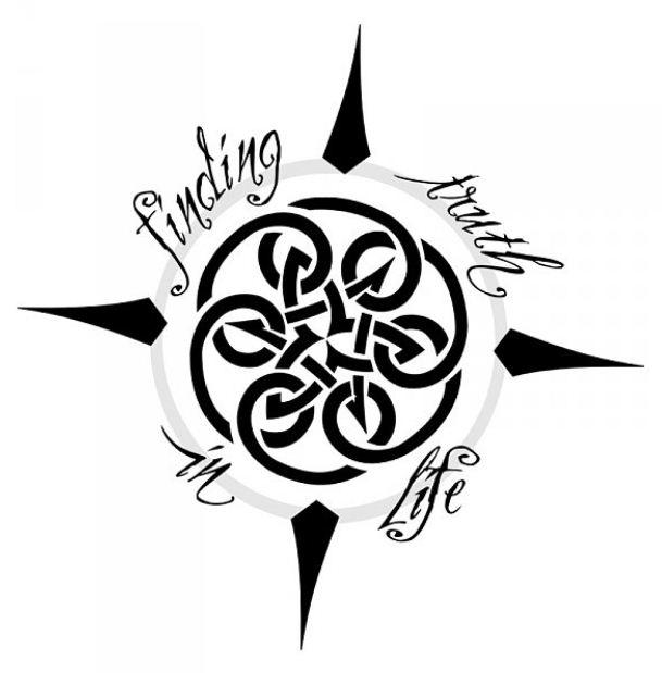 Disegno per tatuaggio bussola con nodo celtico the house for Bussola tattoo significato