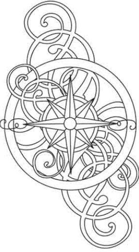Rosa dei venti disegni tatuaggi tatuaggio for Rosa dei venti disegno per bambini