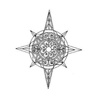 Disegno tatuaggio stella polare o rosa dei venti the for Bussola tattoo significato
