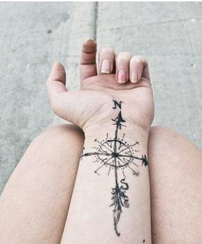 Foto tatuaggio rosa dei venti o bussola the house of blog for Bussola tattoo significato
