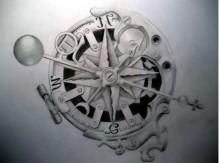 Tatuaggio rosa dei venti stella polare e bussola significato ed immagini