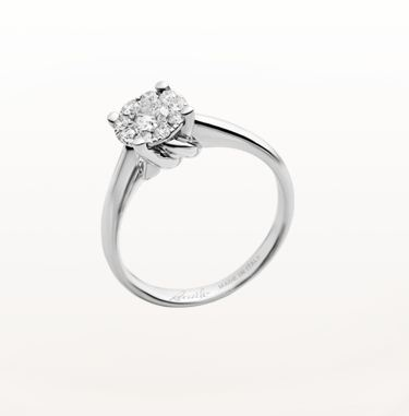 Solitario con diamante Re Carlo linea nodo amore Solitario Re Carlo linea nodo amore - Solitario con diamante Re Carlo: prezzi anelli di fidanzamento