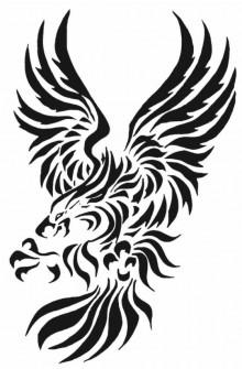 Significato foto e disegni tatuaggi aquila reale tribale