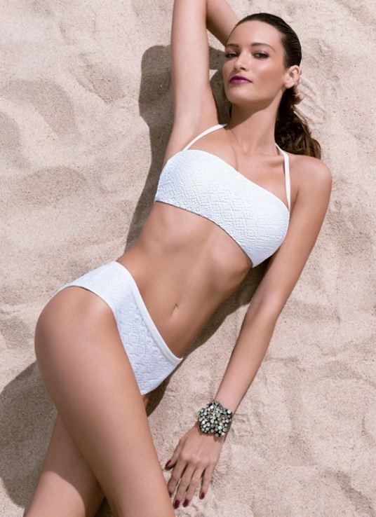 Bikini a fascia e slip alte Golden Point Philippe Matignon estate 2013