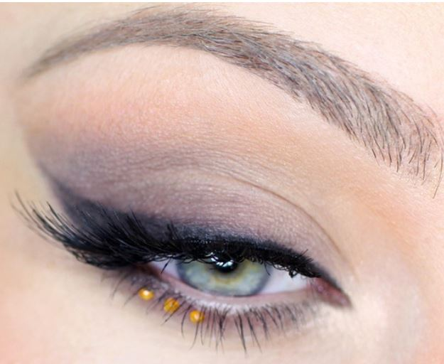 Popolare Trucco occhi verdi e azzurri con piccoli strass - The house of blog NN56