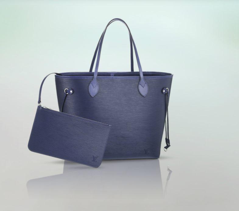 Novita borsa Neverfull in pelle Epi Louis Vuitton color ...