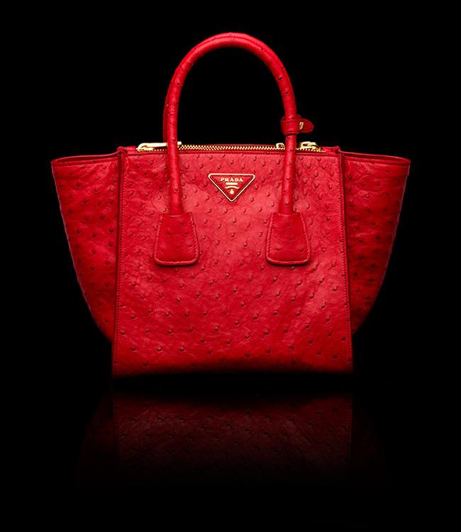 white prada handbag - Borsa in pelle di struzzo Prada inverno 2014 costo 4900 euro - The ...