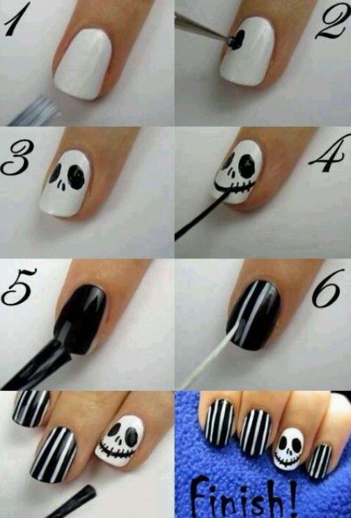 Come decorare le unghie per Halloween passo per passo