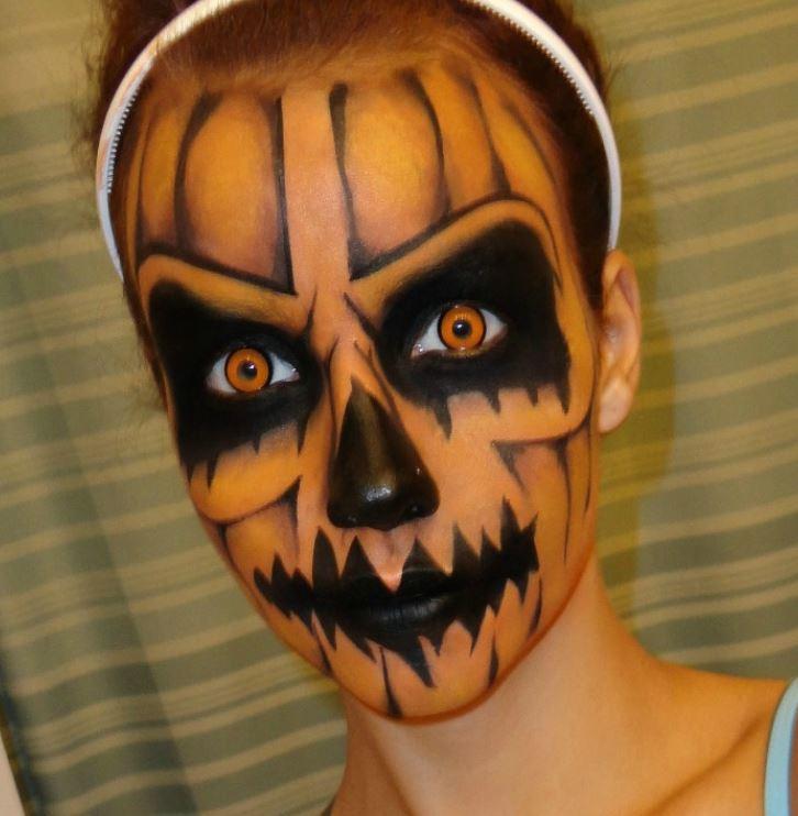 Trucco Halloween da zucca