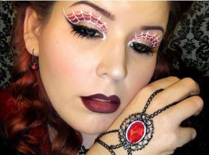 Trucco occhi con ragnatela per Halloween - The house of blog