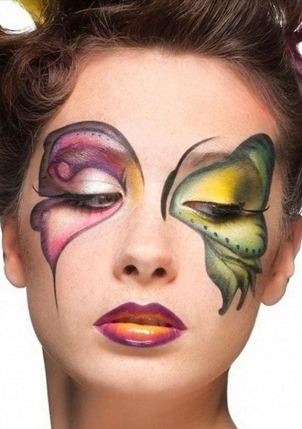 Trucco per Halloween da farfalla