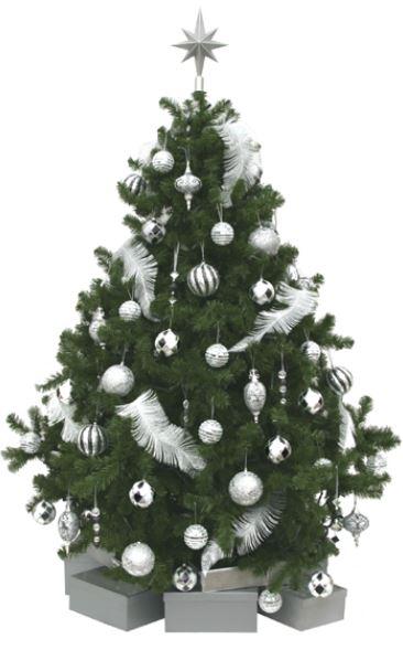 Albero di natale 2013 con decorazioni bianche e argento the house of blog - Decorazioni bianche ...