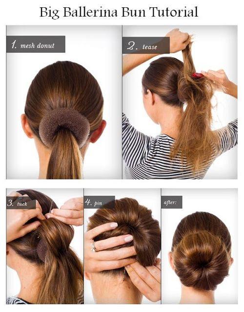 Come fare uno chignon capelli medi