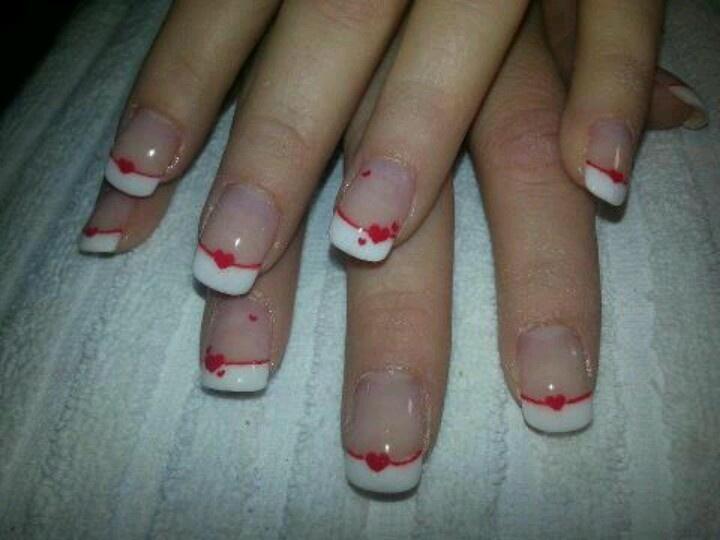 Pedicure per San Valentino Foto decorazione unghie San Valentino - Foto decorazione unghie San Valentino