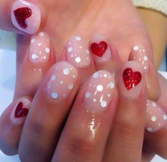 Idea decorazione unghie San Valentino