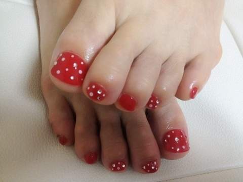 Idea pedicure nail art