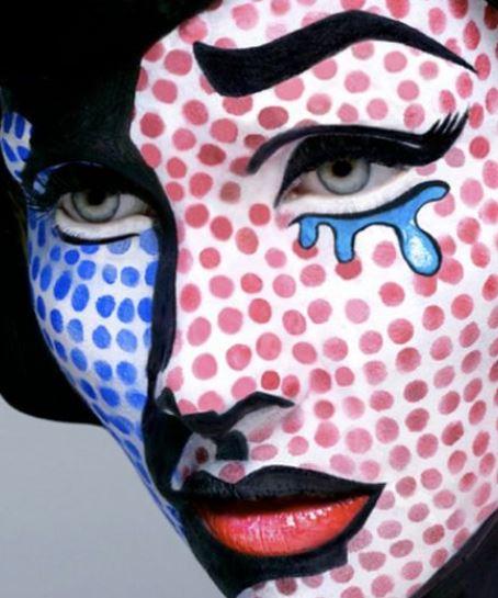 Make up viso Carnevale Pop art alla Andy Warhol