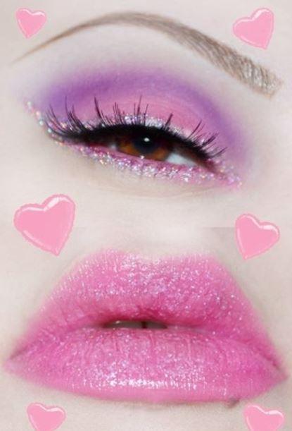 Romantico trucco occhi e labbra per San Valentino